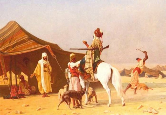 Bedouin Tent Inspiration. The design was copied from historical paintings and drawings
