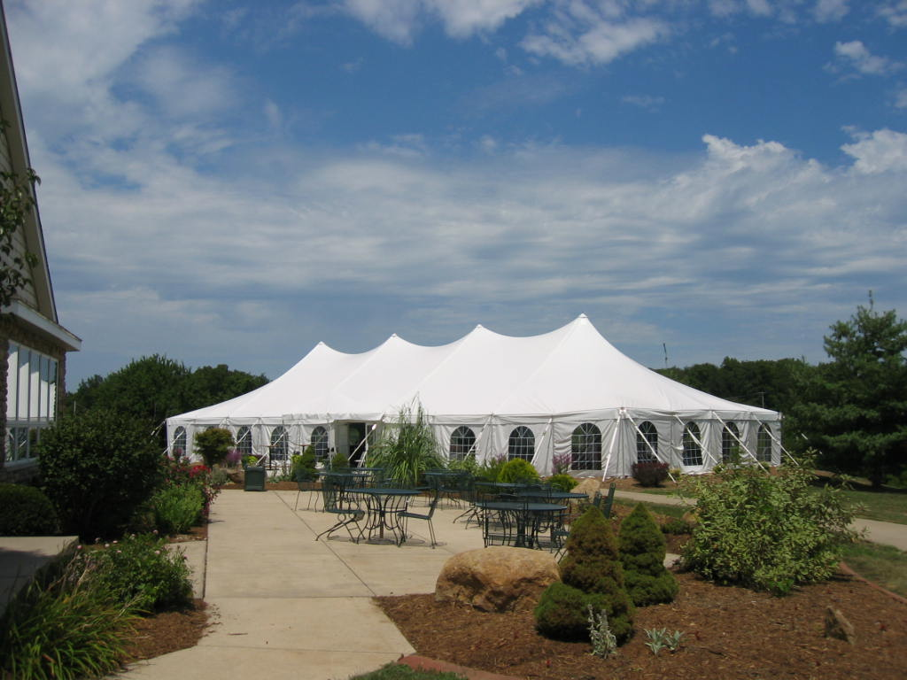Piper Glen 40x100 EuroTent with attached Celebration Frame Tent