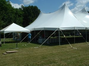 60×100 EuroTent with 15×15 Celebration catering tent