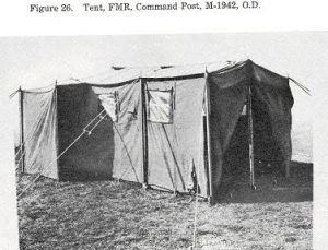 Original Photo of a World War II (WWII) 1942 Command Post Tent
