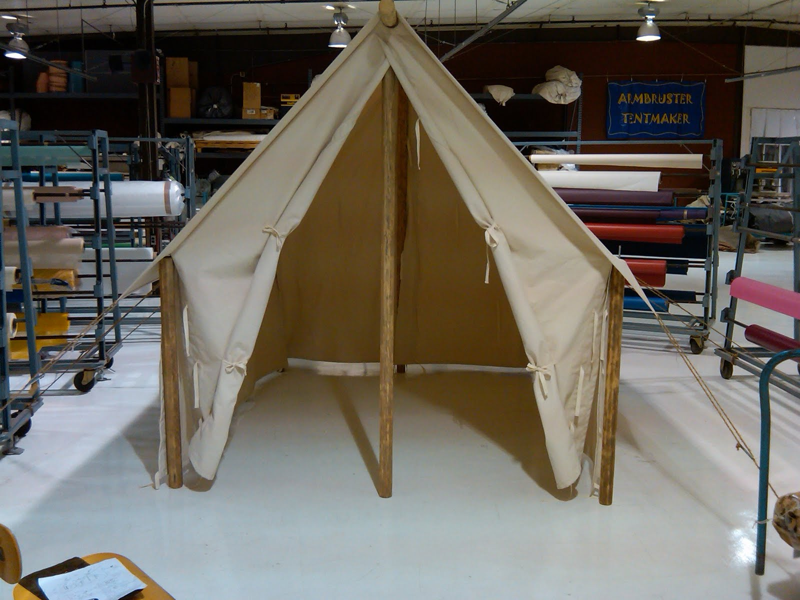 Custom Outfitter Canvas Tent for Store Display in Montana