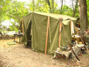 World War II (WWII) Front Side 1942 Command Tent