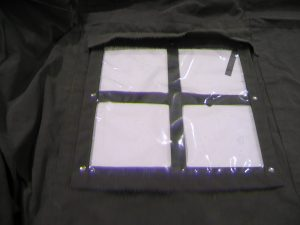 World War II (WWII) Command Post Tent, snap on clear plastic overlays for windows