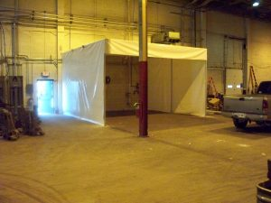 Custom manufacturing enclosure: stand alone custom welding enclosure