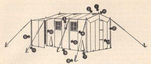 World War II (WWII) Command Post Tent Diagram