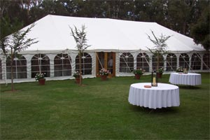 40' Pole Tent at Blue Lake Hire in Naracoorte, Australia